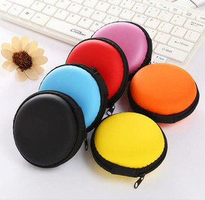 Mini Zipper Bags Earphone Box Protective USB Cable Organizer Spinner Storage Bags Headphone Case PU Earbuds Pouch Homeware Bag YYB2591