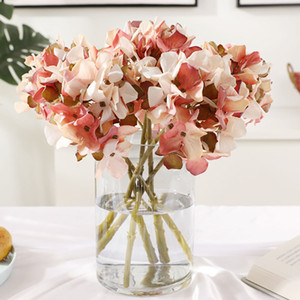 Großhandel Hohe Qualität Seide Künstliche Hortensie Blume Ins Heiß Ölgemälde Hortensie für Dekoration Blume HHE3381
