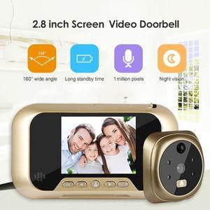 الذكية ip wifi الجرس الفيديو إنترفون 2.8 بوصة lcd الرقمية الجرس 3x التكبير 1MP عدسة hd باب الكاميرا المشاهد الباب bell1