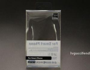 Caixa de pacote de plástico transparente de plástico transparente pvc com suporte interno de blister para telefone telefone capa de telefone para iphone 6 6s mais samsung s6 s5
