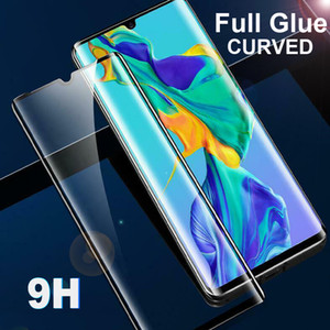 9H Full Glue Tempered Glass Screen Protector for Huawei P30 Pro Mate 20 Curved Coverage Adhesive Thin Clear Protective Film