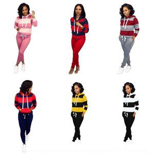 Y3RV Two-peça e outono 2020 mulheres Malha Set Trumpet Pants Sports Summer Stitching Plus 9 Cores DHL