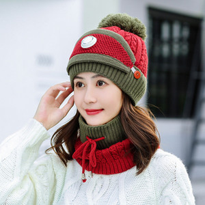 European and American winter Outdoor sports Cold proof knitted hat thickening woolen yarnr hat women's keep warm hat Party Favor T9I00888