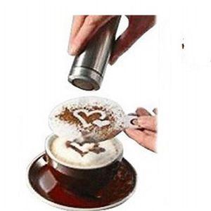 Plástico Mold Pull Flor Flor Espessamento 16 Pçs Café Padrão De Ferramentas Die Fancy Love Modelo Impressão Molde Latte Nova Chegada 1 25an K2