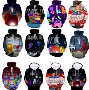 Among Us Letters Hoodies Unisex 3D Hooded Pullover Hip Hop Fashion Sweatshirts Men Women Blouse Sweater Tops Adults Clothes SALE D112602