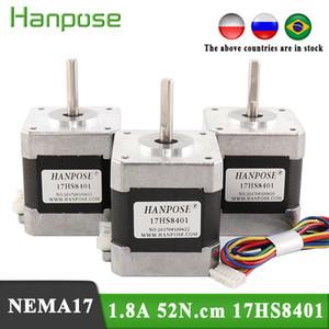 Envío gratis 4-Lead NEMA17 Motor paso a paso 42 Motor NEMA 17 MOTOR 42BYGH 1.7A 52N.CM 17HS8401 CON LÍNEA DE 30 CM para impresora 3D