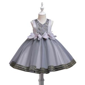 Fashion flower girls dresses for wedding V-Neck Tutu girl dress princess dress formal dresses kids party dresses pageant dress B3080