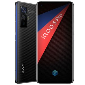 "Original Vivo iQOO 5 Pro 5G Mobile Phone 12GB RAM 256GB ROM Snapdragon 865 Octa Core Android 6.56"" 50MP Wake Face ID Fingerprint Cell Phone"