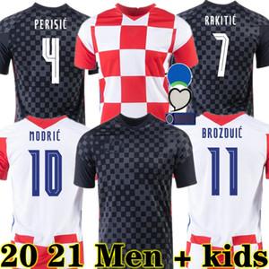 Modric 2020 Croatia National Team Mandzukic Jersey Jersey Perisic Rakitic Srna Kovacic 2021 Football Shirts Adult Hommes + Enfants