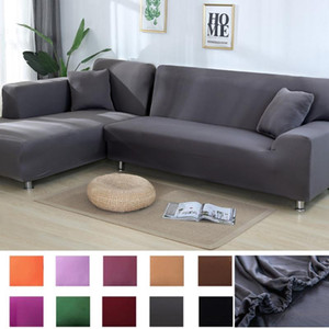 Solid Color Sofa Covers for Living Room Polyester Elastic Corner Couch Cover Slipcovers Chair Protector towel L shape corner sof
