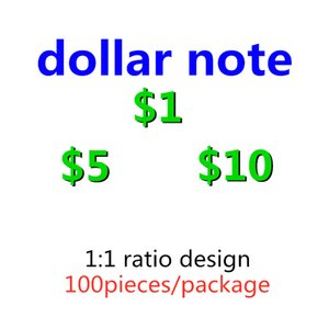 New 1 5 10 20 50 100 Dollars Play Paper Printed Money Toys Prop Money Toy For Kids Christmas Gifts Movie Props 039