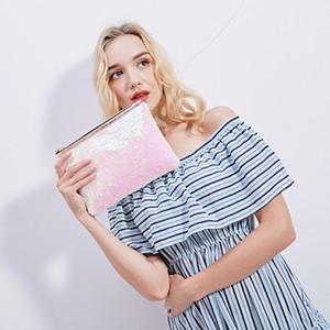 Moda Tuvalet Fermuar Çanta Tote Çanta Pullu Kadın Tasarımcı Çanta Çantalar Taşınabilir Payetli Kadın Çanta Kozmetik Çantası VTKY2192