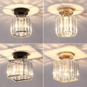 LED teto luzes de cristal lâmpada balck plafonnier sala sala de estar quarto moderno redondo quadrado decorativo lâmpada de teto e27