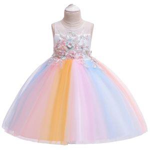 Kids Dresses For Girls Cake Tutu Princess Dress 2020 Summer Children Girls Formal Pageant Party Dress Flower Wedding
