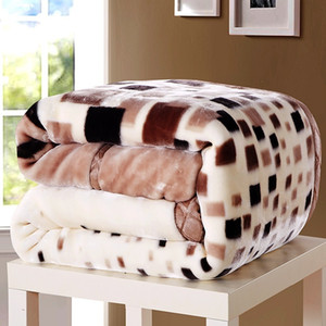2-6 Kilograms Thick Warm Fluffy Super Soft Raschel Blankets Double Layer Winter Mink Throw Fat Quilts Single Double Size Blanket 201111