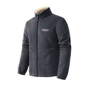 Lamb jacket male plus velvet thick Korean version of the trend winter men's fleece cardigan sweater warm coat men's clothing
