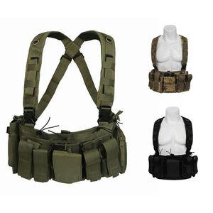 Tactical Belt Bag Outdoor Camouflage Backpack Multi-function Shoulder Bag Fan Tactical Vest Multi-pocket Waist