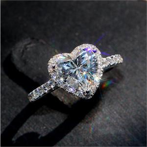 Vecalon Classic 925 sterling sterling sterling anello set ovale taglio 3CT Diamond cz engagement matrimonio anelli per donna Bijoux da sposa