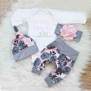 A001 kids designer Newborn Infant Baby Clothes Set Girl Bodysuit +Pants Leggings +Hat Suits Baby Girl Clothes