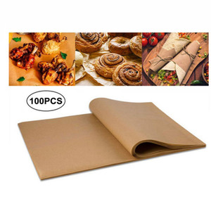 20*30cm Barbecue Baking Sheets Bakery BBQ Party Non-stick Double-sided Silicone Oil Parchment Rectangle Paper DHA1755