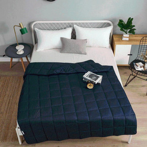 Spring Autumn Warm Quilt Blanket Double King Queen Bed Linens Skin-friendly Bedding Solid Color Plaid Home Hotel Gravity blanket