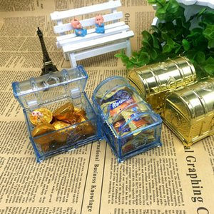 Treasure Coft Formado Caja de caramelo Regalo de boda Favor Treasure Cofre Cajas de Chocolate Cajas Cumpleaños Baby Shower Favors RRD3038