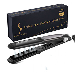Professional Steam Hair Straightener Ceramic Vapor Hair Flat Iron Steam Hair Styling Straightening Iron Curler Steamer Tool premierlash