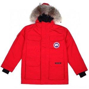 FZ3A Parker Экспедиция волосы G00SE Parka воротник вольбок пуховой куртка повседневное длительное сплошное цветное мех наружный мужчина женщины высочайшее качество пара зима