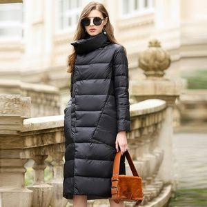 Women Winter 2020 Outerwear Coats Female Long Casual Light Ultra Thin Warm Down Er Jacket Doudoune Longue
