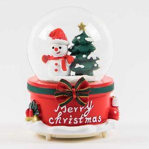 Christmas Snow Globe Music Box Light Snowflakes Santa Claus Crystal Ball for Thanksgiving New Year Christmas Decor romanticGift Z1128