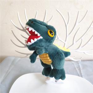 Фаршированные большой глазной динозавр крокодил 11 см игрушки Действие Бутик Рисунок T-REX Key Chare цепочка маленькая подвеска персонализированные куклы аксессуары