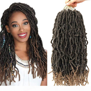 Synthetic Dreadlocks Crochet Braids Hair Knotless Dreads Ombre Color Faux Locs Braiding Hair Extensions for Black Women