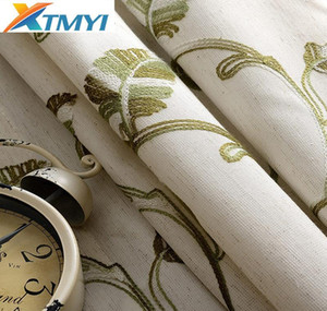 Modern Curtains For The Bedroom Blackout Curtains For Living Room Gray \ Green Embroidered Sheer Fa jllDQQ dh_garden