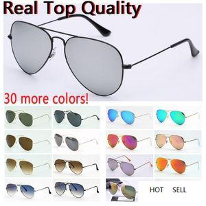 mens sunglasses real pilot quality UV400 glass lenses women sunglasses des lunettes de soleil original free leather cases, accessories, box!