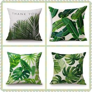 Maiyubo тропический завод бросает подушка подушка тропическое дерево цветок подушка крышка африканских зеленых листьев декоративная дешевая подушка PC590