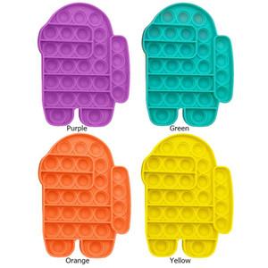 Caldo tra gli Stati Uniti Aumento antistrato Focus Push Pop Bubble Fidget Sensory Toys Autism Special Needs Stress Reliever Pop It Fidggrt Giocattoli