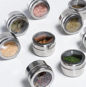 Pfeffer Salz Lagerung Würzen Flaschenküche Essential Draußen Grill Tragbarer Edelstahltank Heißer Verkauf PPD3719
