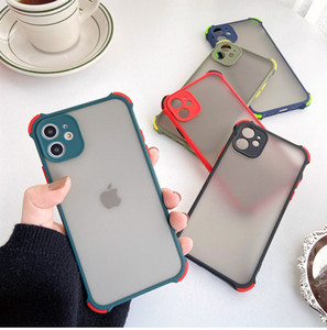 Matte Armor Cases Air Cushion Shockproof Transparent Soft Bumper Cover for iphone 7 8 plus 11 12 pro max Samsung S20 Plus