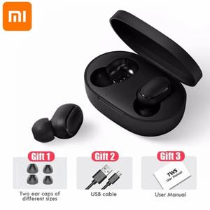 Xiaomi Redmi Havadorları 2 Kablosuz Bluetooth 5.0 TWS Kulaklık Kulaklık Sol Sağ Gürültü Azaltma Akıllı Telefon için Kablosuz Otomatik Bağlantı FY8142