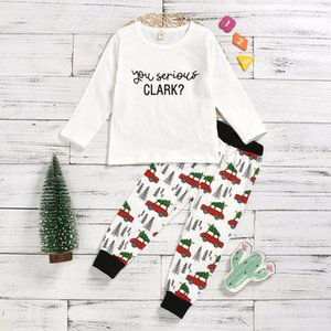 New Arrival Baby Boys Girls Clothes Sets Long Sleeve you serious Top+Pants 2PC outfits pajamas for kids 2-6T Y1117