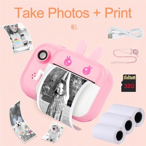 Seelaugh 32GB TF Card Camera Printer With Thermal Photo Paper Camera For Gifts Instant Print Camera Photo Printer For Kids 1080P C1204