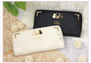 1 piece Sailor Moon Wallet Lady long Wallet Purse Female Black White Color Cat PU Leather for Coin Card Clutch
