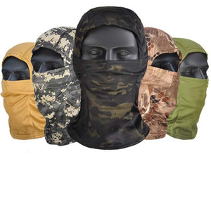 Outdoor Active Camouflage Balaclava Full Face Mask for CS Wargame Cycling Hunting Army Helmet Liner Tactical Cap Scarf