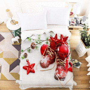 Merry Christmas Gifts Print Blanket 3D Highend Blanket Super Soft Breathable Bedroom Decoration For All Seasons