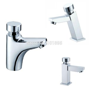X10090 - Luxury Brass Time Extending Faucet 4 Models Deck Mounted Self Closing Water Tap