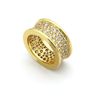 Hot Fashiion Eleastic Brand Rhinestone Wedding Full Diamond Spring Rings Joint Brand for Women Vintage Jewelry The Latest 18k Gold Love Ring