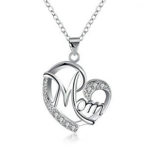 Collares colgantes Día de la Madre Collar de moda Mamá Mamá Carta de bebé Encantos del regalo para la madre Drop1