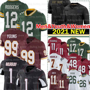 99 Chase Young Jerseys 1 Kyler Murray 11 Larry Fitzgerald Haskins JR Alex Smith Aaron Rodgers Isaia Simmons Deandre Hopkins Darnell Savage