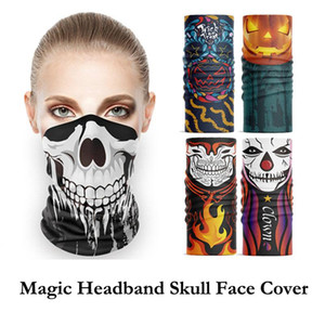 Seamless Magic Headband Skull Ghost Clown Neck Gaiter Headwear Halloween Bandana UV Protection Biker Face Cover Scarf Neckerchif