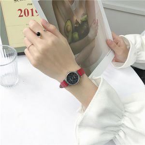 Nueva Minora francesa Estrella Sky Reloj Femenino Estudiantes Versión coreana de Cinta Simple Delicate Pequeño Dial Ocio Literatura Retro